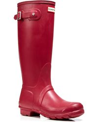 Hunter Rain Boots - Original Tall red - Lyst