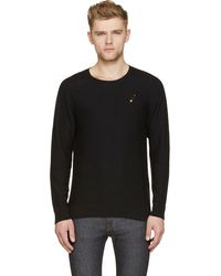 Marc Jacobs Asphalt Cashmere And Silk Gold Safety_Pin Sweater - Lyst