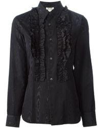 Comme des Garçons Ruffled Shirt black - Lyst
