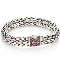 John Hardy   Classic Chain Red Sapphire & Sterling Silver Large Bracelet   Lyst