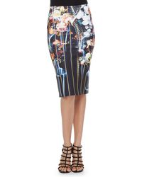 Clover Canyon Combo Midi Pencil Skirt - Lyst