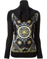 Versace Black Printed Sweater - Lyst