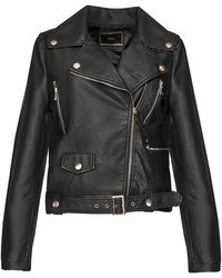Pixie Market Sonya Leather Biker Jacket - Lyst