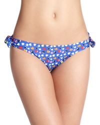Shoshanna Neon Hearts Bow Bikini Bottom multicolor - Lyst