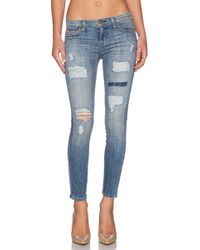Current/Elliott The Stiletto Skinny Mid-Rise Stretch-Denim Jeans - Lyst