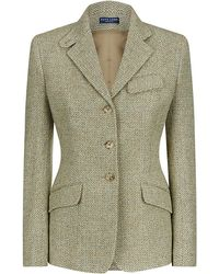 Ralph Lauren Blue Label Tweed Jacket - Lyst