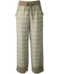 Missoni Patterned Wide Leg Trousers - Lyst