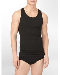 Calvin Klein Underwear Cotton Classic 3 Pack Ribbed Tank Top - Lyst