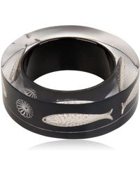 Nicholas King Black Fish Bangle Bracelet