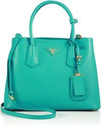 prada sale handbags - Prada Metallic Saffiano Leather Camera Bag in Gold   Lyst