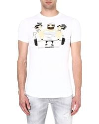 DSquared2 Jail Weight Tshirt White - Lyst