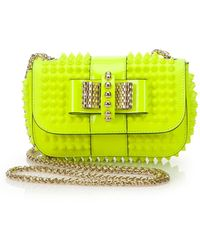 Christian Louboutin Sweety Charity Spike-Studded Crossbody Bag yellow - Lyst