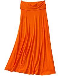Gap Foldover Maxi Skirt - Orange