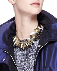 Lela Rose - Metal-Circle Tie Necklace - Lyst