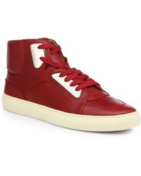 Bally Leather High-Top Sneakers - Lyst
