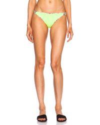 Mara Hoffman Reversible Basket Weave Nylon-Blend Bikini Bottom - Lyst