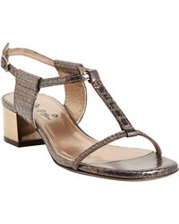 Lanvin Python Tstrap Anklestrap Sandals - Lyst