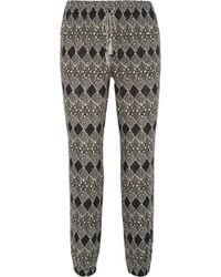Madewell Tobago Printed Cotton-Gauze Tapered Pants - Lyst
