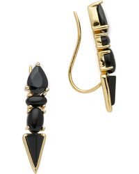 Samantha Wills - Horse & Hummingbirds Ear Climbers - Onyx - Lyst