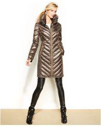 Michael Kors Michael Chevronquilted Packable Puffer Coat - Lyst