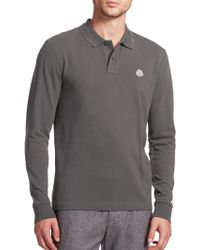 Moncler | Maglia Tipped Long-sleeve Polo | Lyst