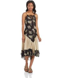 Free People Floral Print Slip Dress - Lyst