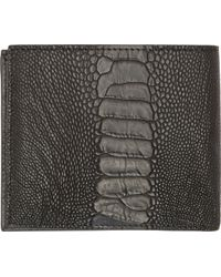 Givenchy Grey Ostrich Leather Classic Bifold Wallet - Lyst