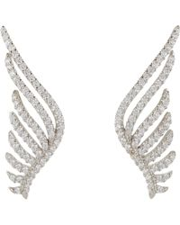 Fallon - Pave Wing Earrings-colorless - Lyst