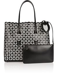 Alaïa - Petal Laser-cut Leather Tote - Lyst