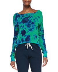 Pam & Gela Tie-dye Sweatshirt W High-low Hem - Lyst