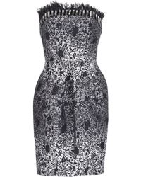 Matthew Williamson Wing Lace Brocade Strapless Dress - Lyst