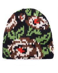 4d22bb8d6e7 Tak.ori - Cortina Floral Knit Beanie - Lyst