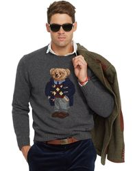 Polo Ralph Lauren Argyle Polo Bear Wool Sweater - Lyst