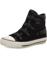 Ash Vanessa Mesh High-Top Sneaker - Lyst