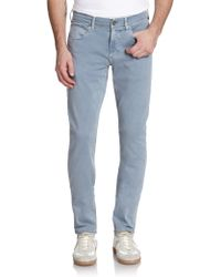 Hudson Blake Slim Twill Jeans blue - Lyst