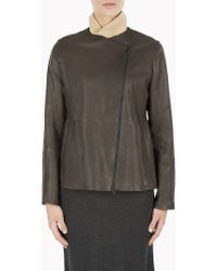 Brunello Cucinelli Leather Outerwear - Lyst