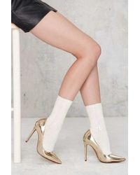 Nasty Gal | One Of A Shine Sequin Socks | Lyst