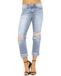 Current/Elliott | The Highwaist Straight In Point Break Destroyed | Lyst
