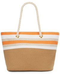 Saks Fifth Avenue - Rope Handle Straw Tote - Lyst