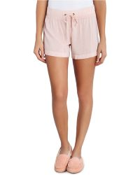 Ugg Karely Medium-Rise Shorts pink - Lyst