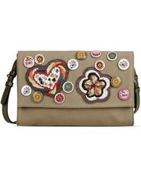 Red Valentino   Embroidered Clutch   Lyst