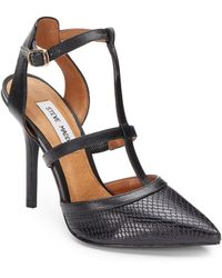 Steve Madden Surfice Sanke-embossed Leather Pumps - Lyst