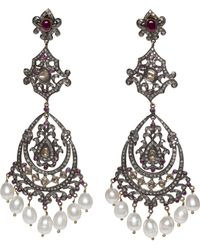 Kirat Young - Art Deco-style Chandelier Earrings - Lyst