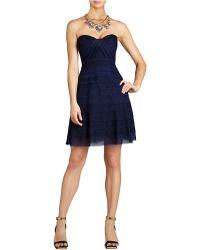 BCBGMAXAZRIA Cocco Strapless Tiered Dress - Lyst
