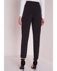 Missguided Wrap Detail Tailored Pants Black