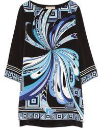 Emilio Pucci Printed Silk-Cady Mini Dress - Lyst