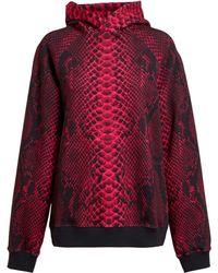 Christopher Kane Unisex Snakeskin Print Cotton Sweatshirt - Lyst