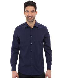 Calvin Klein Ls Noniron Mini Stripe Woven Shirt - Lyst