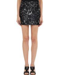 Balenciaga Marble-Pattern Jacquard Mini Skirt - Lyst