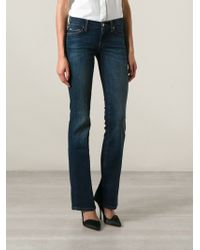 7 For All Mankind Blue Bootcut Jeans - Lyst